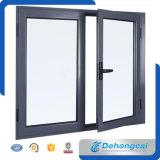 Ventana de aluminio doble garantizada calidad del vidrio Tempered