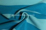 El solo algodón 100%, 210GSM del piqué Hilado-Teñe la tela que hace punto de la raya para la camiseta de los hombres