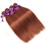 """페루 머리는 100% 사람의 모발 직물 순수한 33 색깔 10 """" - 26 """" Remy 머리 연장을 비 묶는다"""