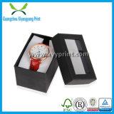 Vakje van uitstekende kwaliteit van het Horloge van het Document van de Kleur van de Douane het Zwarte met Fluweel