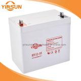 солнечная батарея свинцовокислотной батареи 12V 55ah для системы панели солнечных батарей