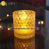 Sostenedor de vela de cristal hecho a mano para la decoración casera