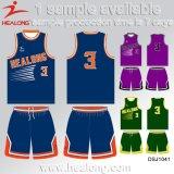 Healong neuer Entwurfs-Sport-Abnützung-Sublimation-Team-Verein-Basketball Jersey für Verkauf