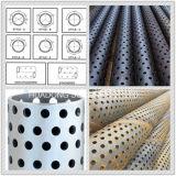 API tubo perforado tubo redondo agujero perforado de metales