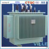 10kVA S10-M de la série 10kv Wond Type de noyau hermétiquement scellés immergée d'huile de transformateur/transformateur de distribution