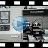 Tipo horizontal torno do sistema de Ck6180 Fanuc do CNC da base lisa