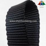 Tessitura piana nera pesante del poliestere da 1.5 pollici
