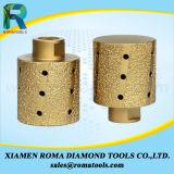 Roues de fraisage de tolérance zéro d'outils de diamant de Romatools pour le bord en pierre de polissage