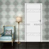Puerta OEM / ODM sólido de insonorización de madera compuesto de plástico de entrada (YM-019)