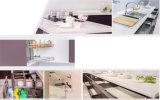 Gabinete de cozinha lustroso elevado UV moderno (ZX-003)