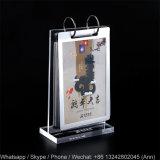 De nieuwe Rekken van de Vertoning van de Houder van de Kalender van de Desktop van de Vorm van de Stijl T Acryl voor Kalender, Foto of Menu