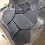St-018 Black Slate Crazy Shape Meshed Paving Stone für Landscaping