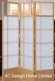 Черный цвет роскоши риса Non-Woven бумаги в японском стиле из дерева и складывание можно доехать на экране номера делитель X 3 панели управления