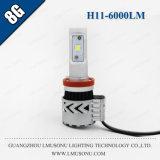 CREE brillante Xhp50 6000lm 35W de la venta 8g H11 LED de Lmusonu alto de la linterna caliente del coche