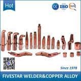 Tapa de aleación de cobre eléctrico de soldadura por resistencia Punteadora