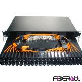 Facendo scorrere il tipo quadro d'interconnessione del cassetto di fibra con l'adattatore ottico di MTRJ