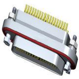 Ficha eléctrica rectangular industrias militar-aeroespacial Conector USB Mini D-SUB