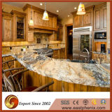 Hot Sale Granite Jaune pour Prefab Finish Kitchen Countertop