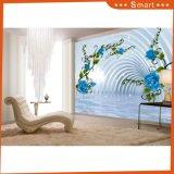 3D Azul-Rose en la pintura al óleo cristalina del diseño interior del palacio