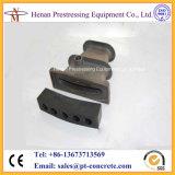 Attaches plates métallisées de la brame S5 pour des Sept-Fils de 15.24mm précontraignant des brins