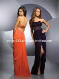 2011 nuovo vestito senza bretelle chiffon in rilievo sexy da Eveving/abito di sera (59932)