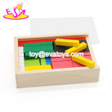 Nouveau design pour l'éducation empilage de bloc de couleur en bois pour les enfants W13A147
