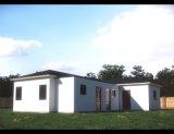 デザイン計画の2階建てのプレハブの家