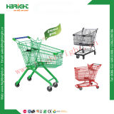 Trole da compra do supermercado do revestimento da potência