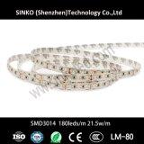 Luz de tira Dotless flexible negra del PWB SMD2835 180 21.5W LED de PCB/White PCB/Brown