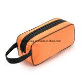 Sacchetto cosmetico di promozione maglia/del poliestere, valigia attrezzi di promozione con la breve maniglia