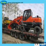 Máquina de construcción multifunción LC80W Excavadora Excavadora de ruedas con CE