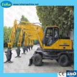 Poids de fonctionnement de l'excavateur 8.5Ton machinerie de construction 8.5T La capacité du godet excavateur 0.3m3