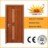 Precio más bajo dormitorio de madera de roble interior Puertas Precio (SC-W052)