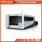 Cortador do laser do CNC da máquina de estaca do metal de folha com tabela da troca