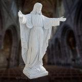 Scultura di marmo bianca della statua del Jesus