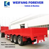 40-60ton 3axles Side DropかSide Board/Bulk Cargo Truck Semi Trailer