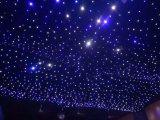 4X8m LEIDEN Blauw en Wit Door sterren verlicht Gordijn voor de Achtergrond van de Disco van het Huwelijk