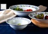 カスタマイズされたロゴの印刷を用いる陶磁器のディナー用大皿
