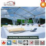 Tenda esterna di mostra della tenda bianca di 5000 Seaters con la pubblicità della parete