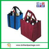 Riciclare il libro macchina non tessuto del sacchetto di acquisto della bottiglia di vino ed il formato Be è personalizzato