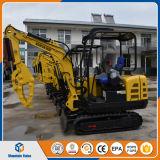 中国のクローラー掘削機の販売のための小さい掘削機2200kg/2.2tonの小型坑夫