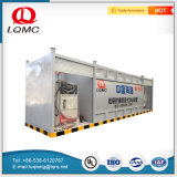 Rifornire di carburante stazione di pompa messa in recipienti a un solo strato del combustibile gassoso della strumentazione la mini
