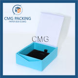 Schöner handgemachter blauer Schmucksache-Papier-Verpackungs-Kasten (CMG-PJB-046)