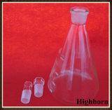 実験室の明確なホウケイ酸塩ガラスの円錐フラスコ
