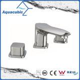 Trois trous toilettes robinet Laiton chromé robinet du bassin (AF0033-6)