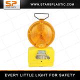 6V Barricade van de Flits van de Waarschuwing van batterijkabels Rood/Geel Licht met de Steun van het Metaal