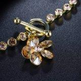 Armband van de Charme van de Juwelen van de Manier van het Kristal van de Douane van de Charme van de bloem 18K de Gouden