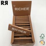 より豊富なブラウンの麻のロール用紙の煙ること