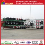 3axlesトラックのための骨組フレームの容器シャーシのトレーラー