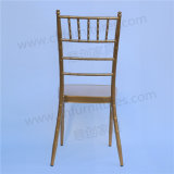 Banquet de mariage Metal Golden Chiavari Tiffany chaise empilable Yc-A21-1